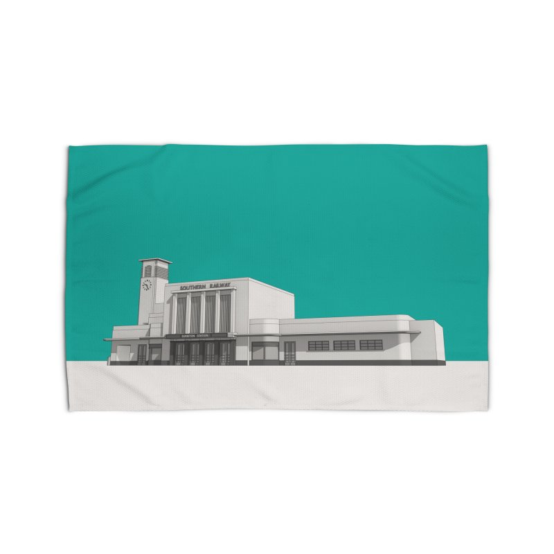 Surbiton Station Home Rug by Pig's Ear Gear on Threadless