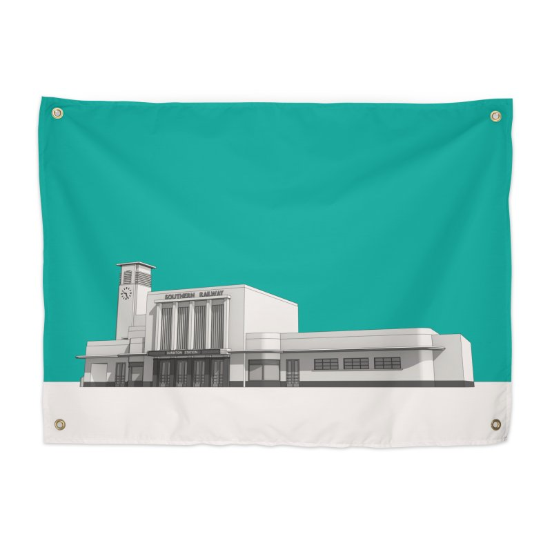 Surbiton Station Home Tapestry by Pig's Ear Gear on Threadless
