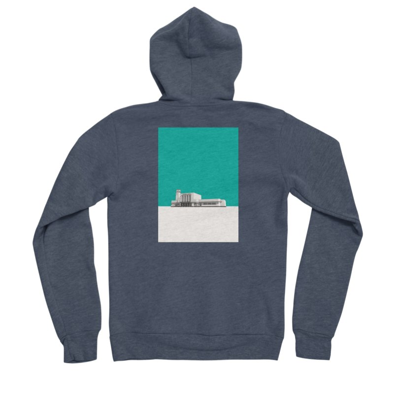 Surbiton Station Women's Sponge Fleece Zip-Up Hoody by Pig's Ear Gear on Threadless