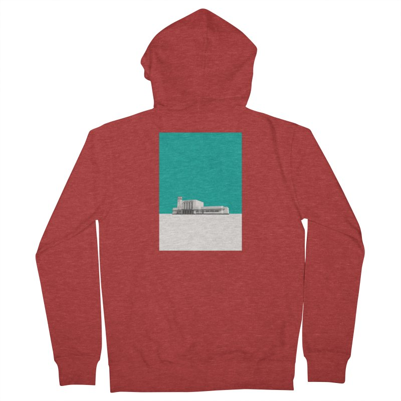 Surbiton Station Women's French Terry Zip-Up Hoody by Pig's Ear Gear on Threadless