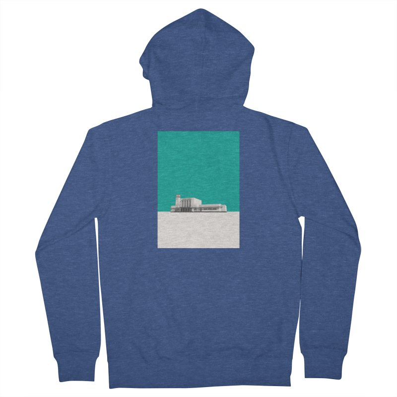 Surbiton Station Men's French Terry Zip-Up Hoody by Pig's Ear Gear on Threadless