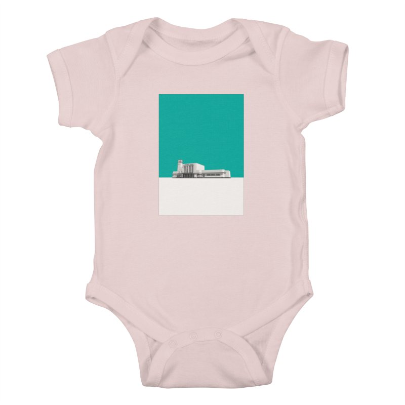 Surbiton Station Kids Baby Bodysuit by Pig's Ear Gear on Threadless