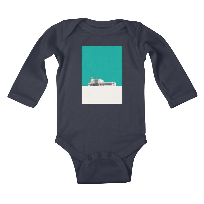 Surbiton Station Kids Baby Longsleeve Bodysuit by Pig's Ear Gear on Threadless