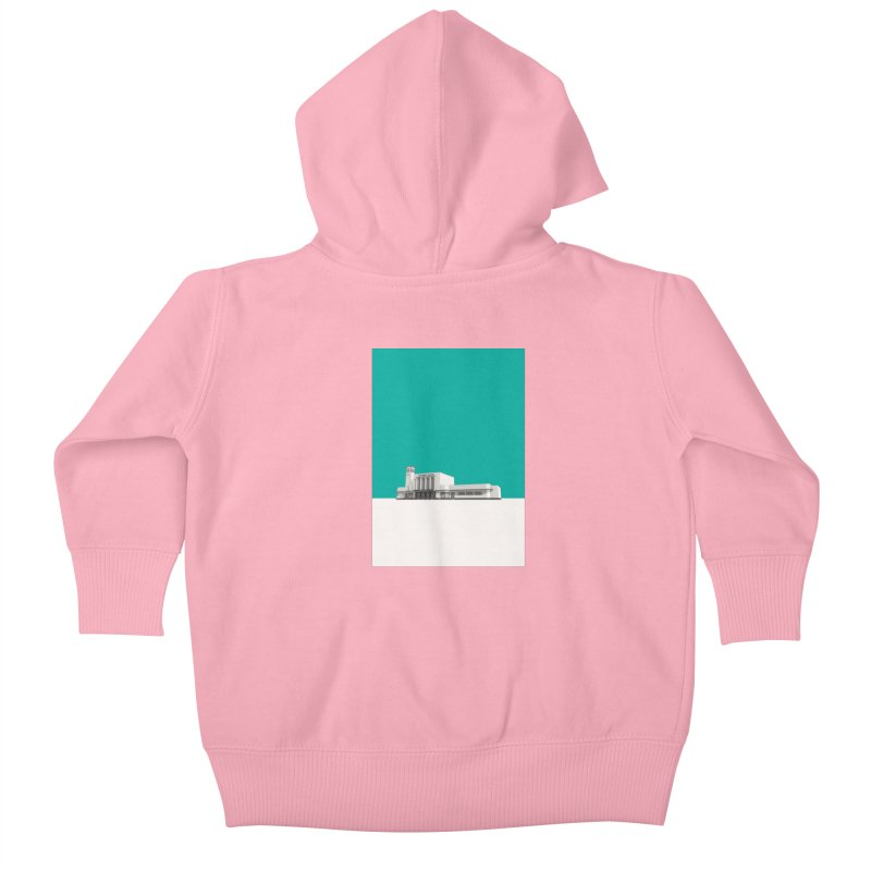 Surbiton Station Kids Baby Zip-Up Hoody by Pig's Ear Gear on Threadless