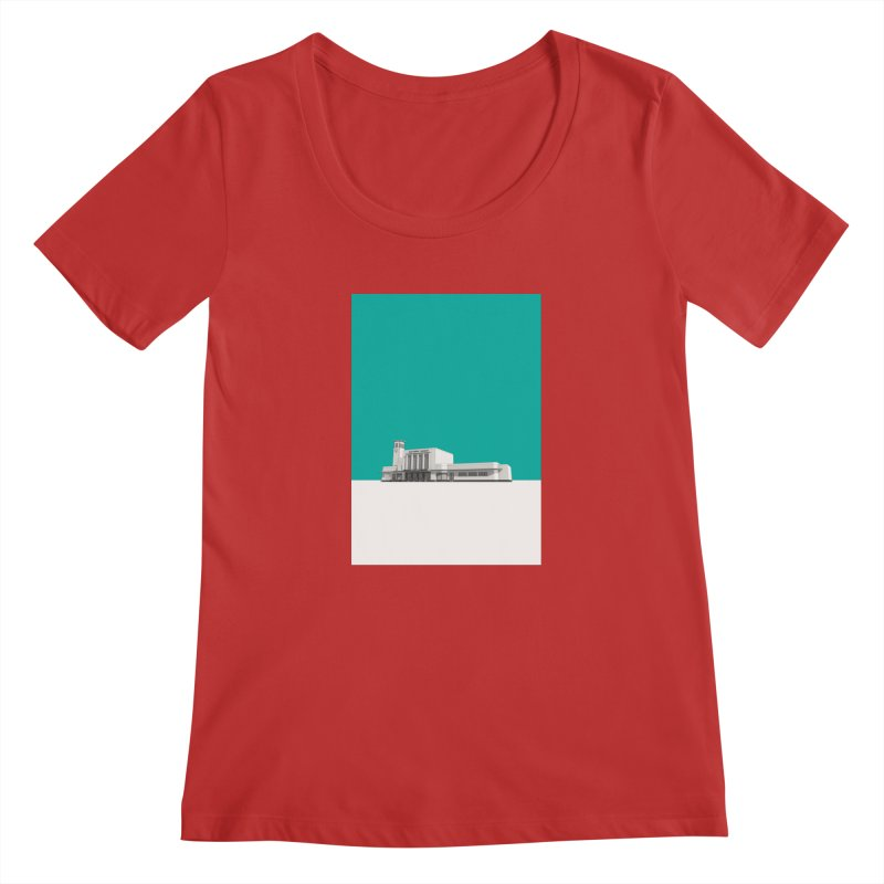 Surbiton Station Women's Regular Scoop Neck by Pig's Ear Gear on Threadless