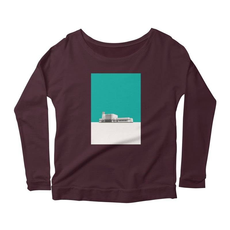 Surbiton Station Women's Scoop Neck Longsleeve T-Shirt by Pig's Ear Gear on Threadless