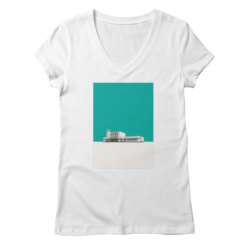 Surbiton Station Women's Regular V-Neck by Pig's Ear Gear on Threadless