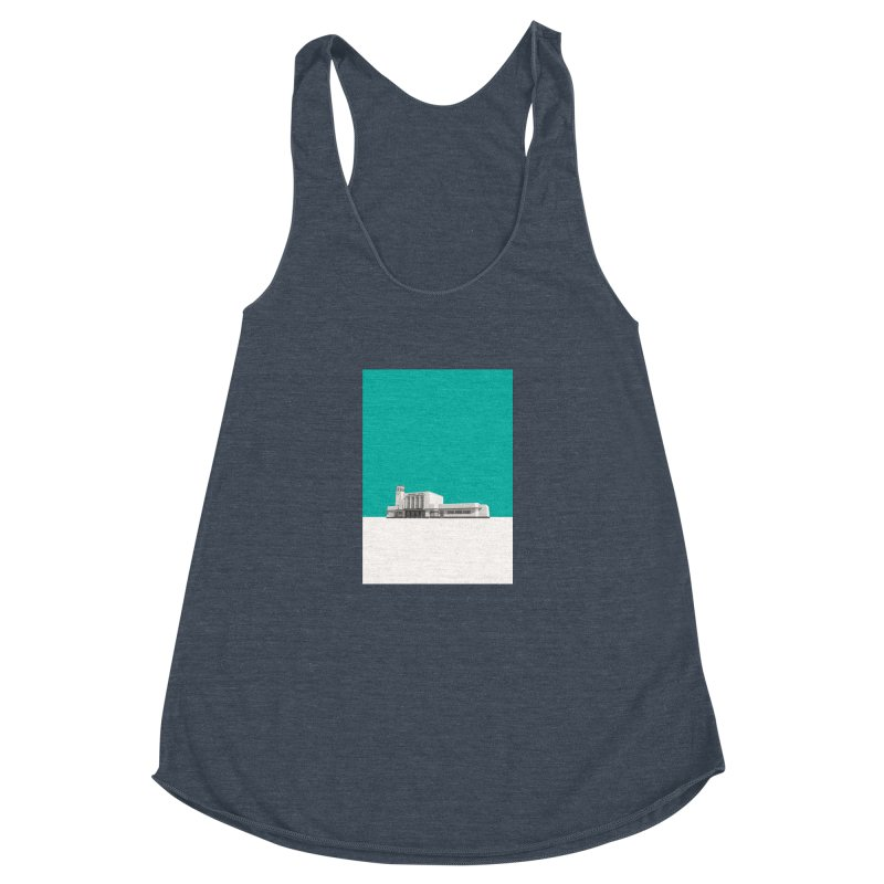 Surbiton Station Women's Racerback Triblend Tank by Pig's Ear Gear on Threadless