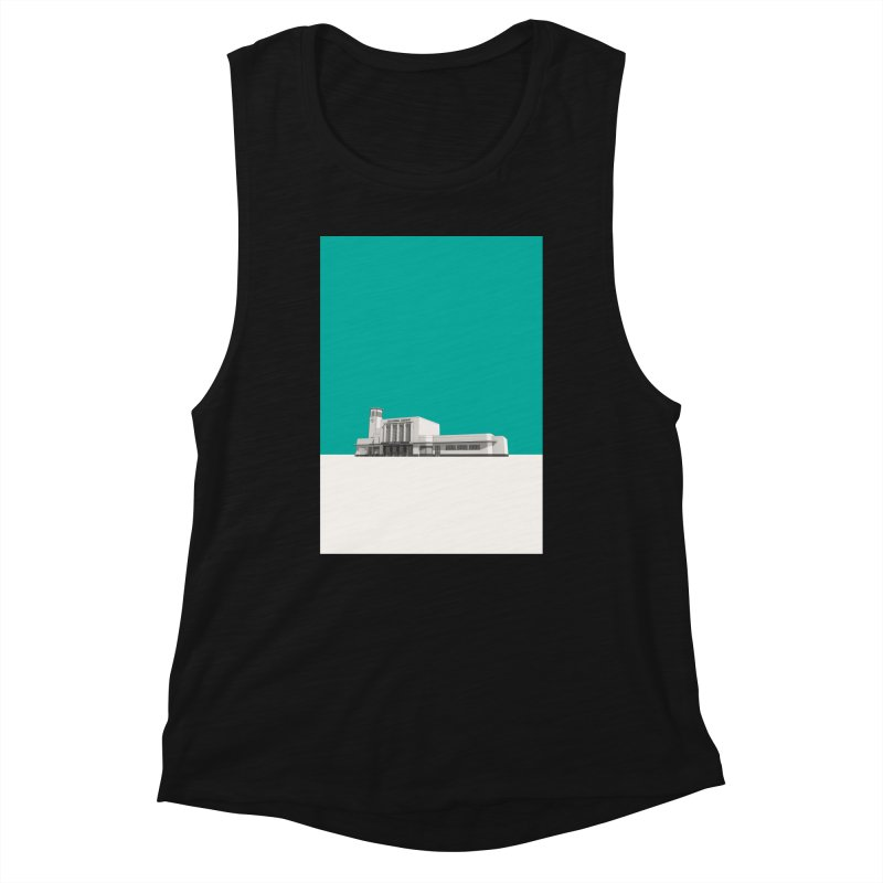 Surbiton Station Women's Muscle Tank by Pig's Ear Gear on Threadless