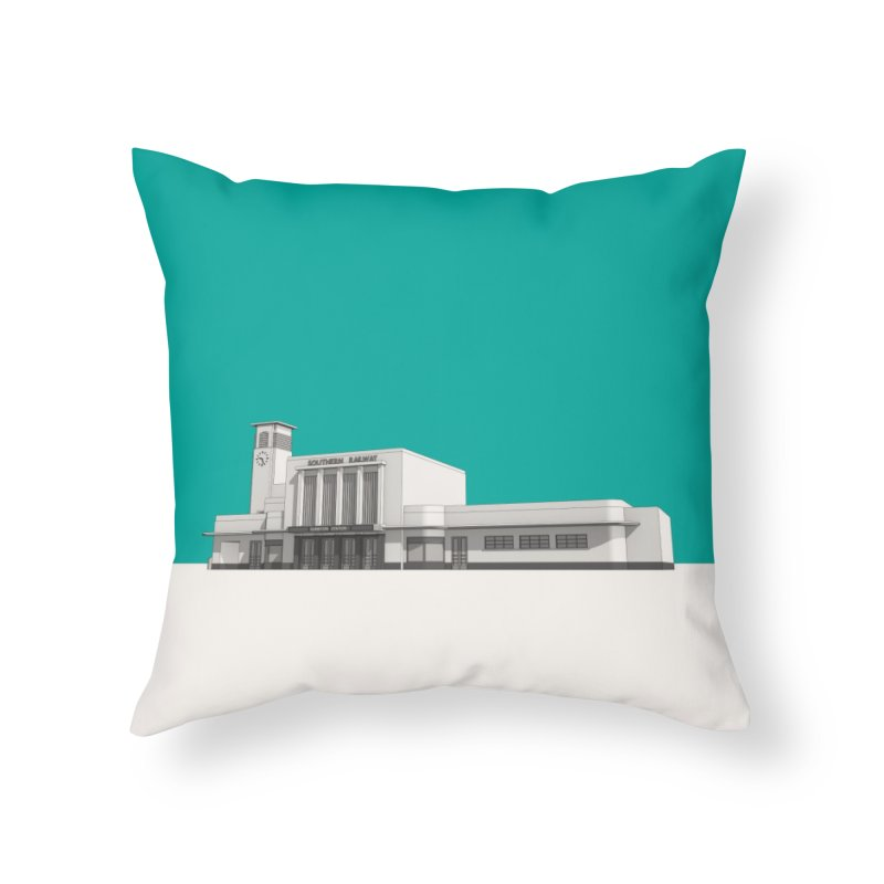 Surbiton Station Home Throw Pillow by Pig's Ear Gear on Threadless