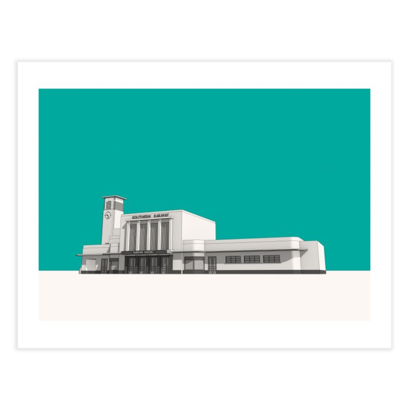 Surbiton Station Home Fine Art Print by Pig's Ear Gear on Threadless