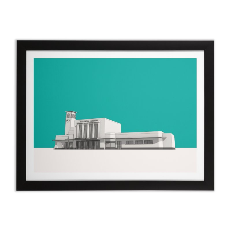 Surbiton Station Home Framed Fine Art Print by Pig's Ear Gear on Threadless