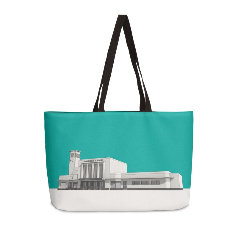 Surbiton Station Accessories Weekender Bag Bag by Pig's Ear Gear on Threadless