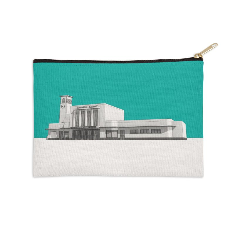 Surbiton Station Accessories Zip Pouch by Pig's Ear Gear on Threadless