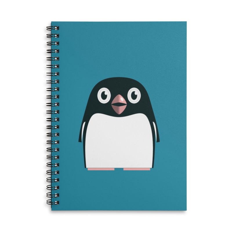 Adélie penguin Accessories Lined Spiral Notebook by Pig's Ear Gear on Threadless