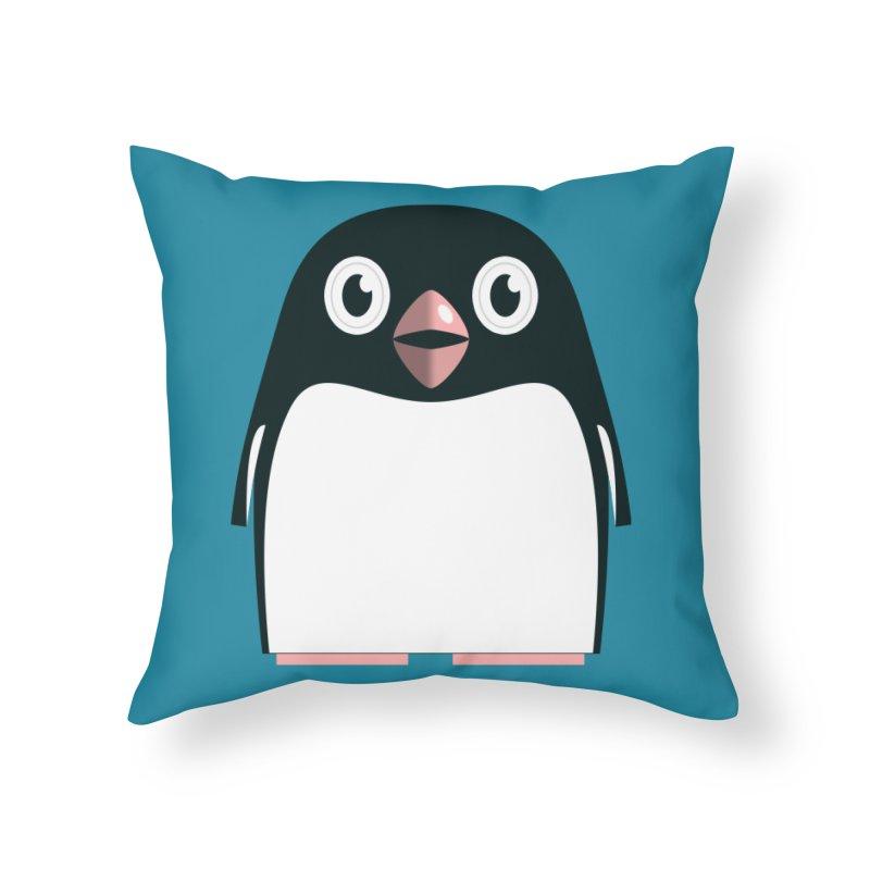 Adélie penguin Home Throw Pillow by Pig's Ear Gear on Threadless