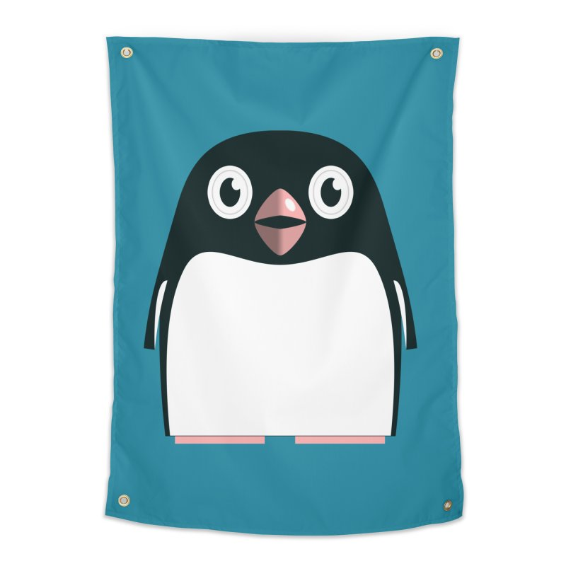 Adélie penguin Home Tapestry by Pig's Ear Gear on Threadless