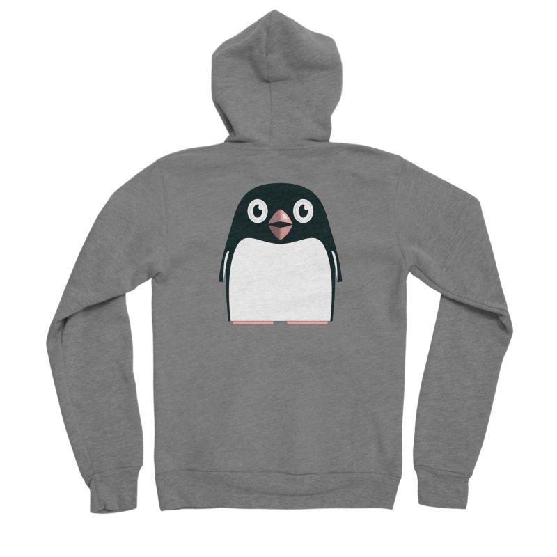 Adélie penguin Men's Sponge Fleece Zip-Up Hoody by Pig's Ear Gear on Threadless
