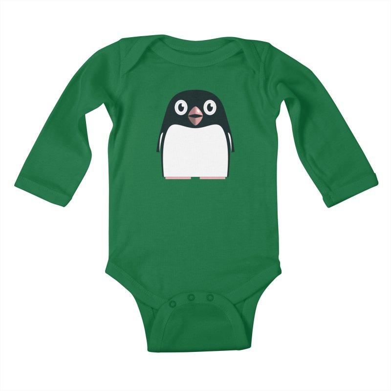 Adélie penguin Kids Baby Longsleeve Bodysuit by Pig's Ear Gear on Threadless