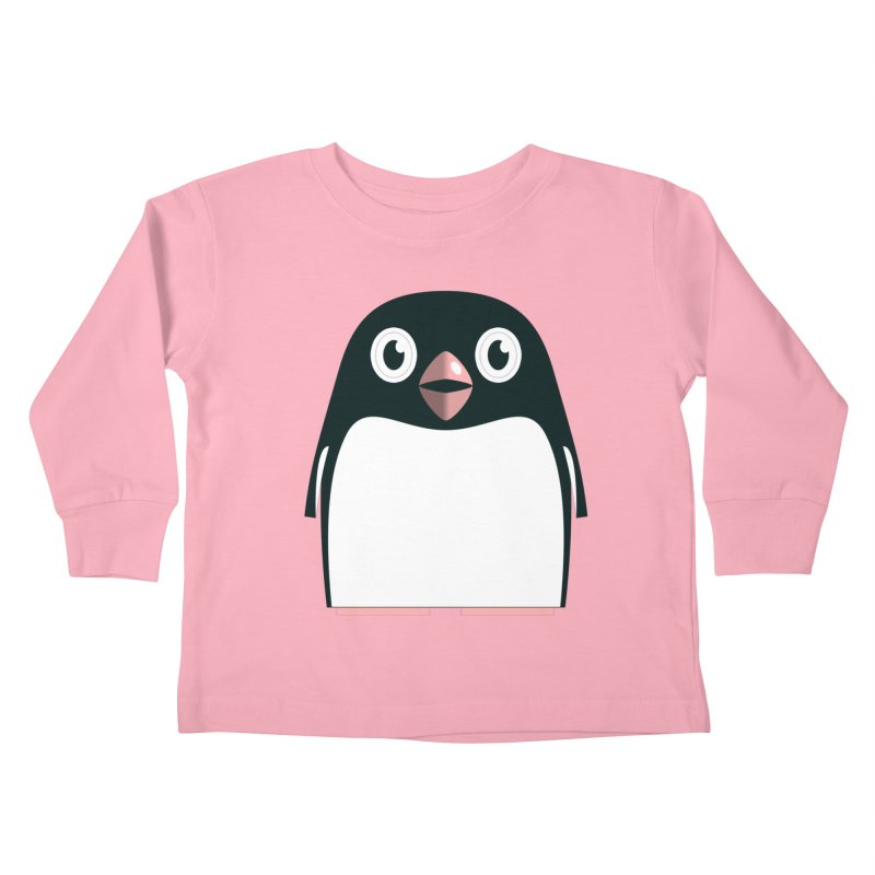 Adélie penguin Kids Toddler Longsleeve T-Shirt by Pig's Ear Gear on Threadless