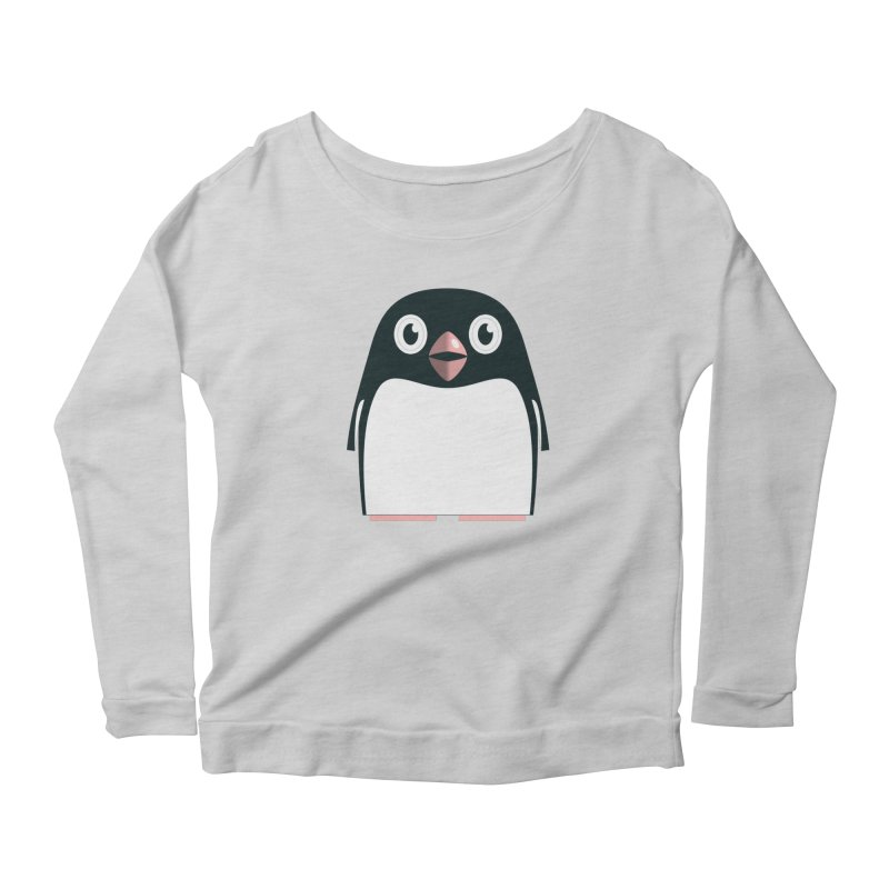 Adélie penguin Women's Scoop Neck Longsleeve T-Shirt by Pig's Ear Gear on Threadless