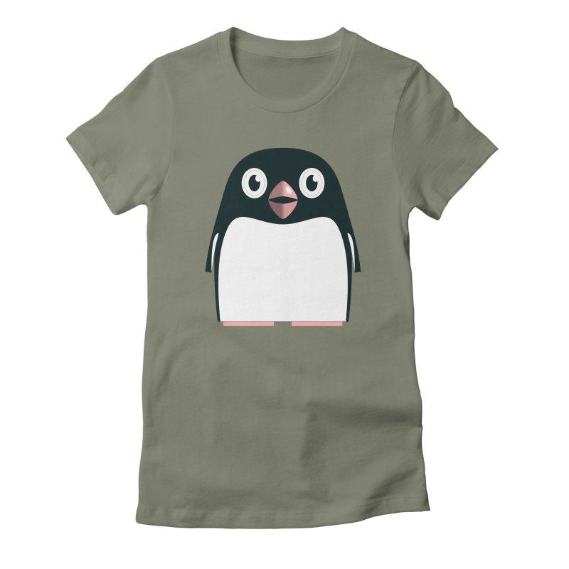Adélie penguin Women's Fitted T-Shirt by Pig's Ear Gear on Threadless