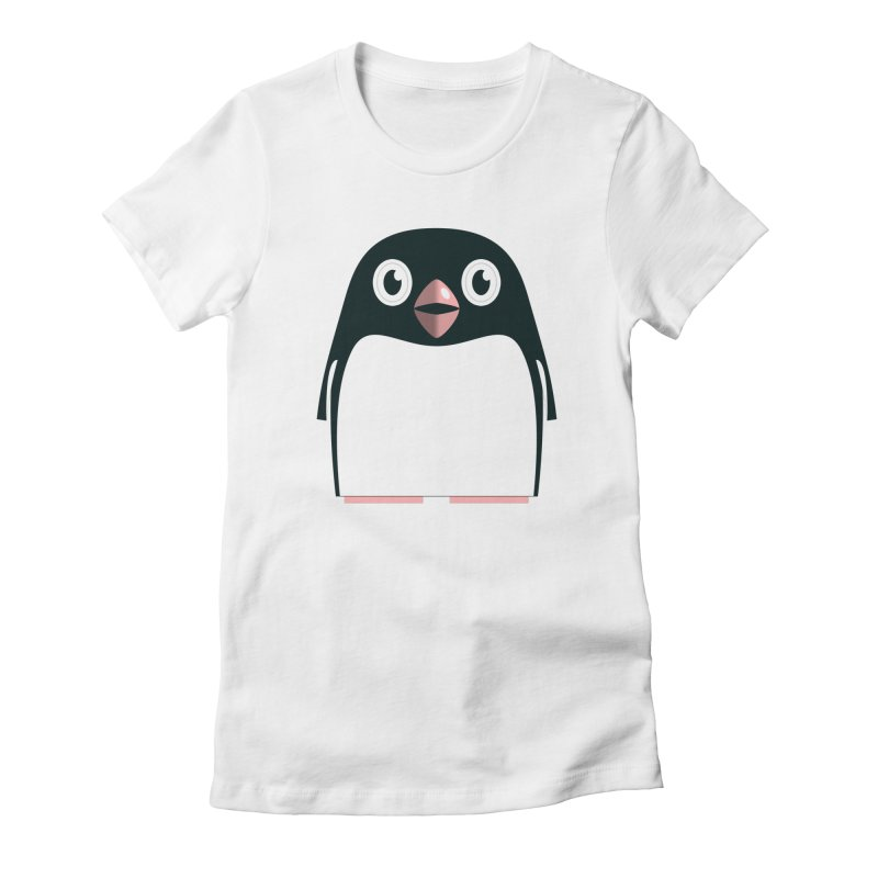 Adélie penguin Women's Fitted T-Shirt by Pig's Ear Gear on Threadless