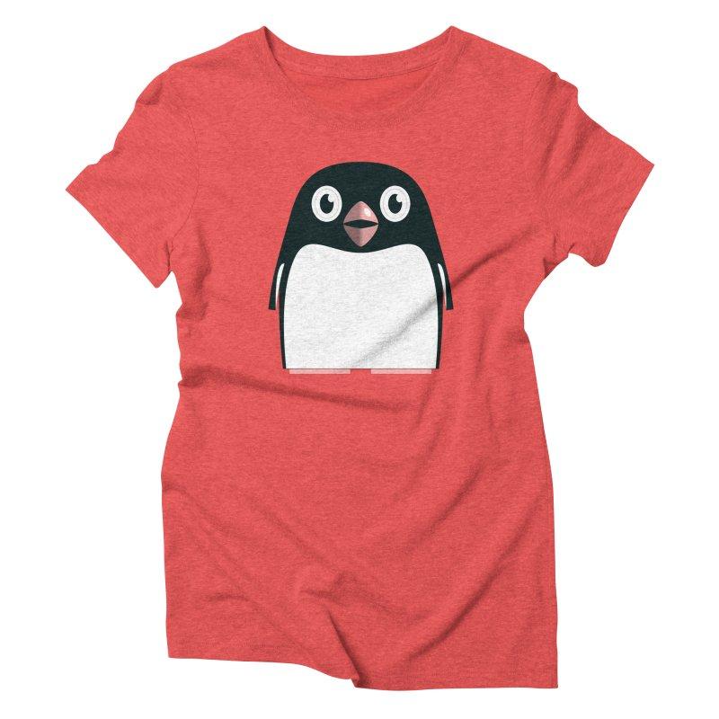 Adélie penguin Women's Triblend T-Shirt by Pig's Ear Gear on Threadless