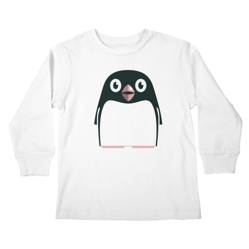 Adélie penguin Kids Longsleeve T-Shirt by Pig's Ear Gear on Threadless