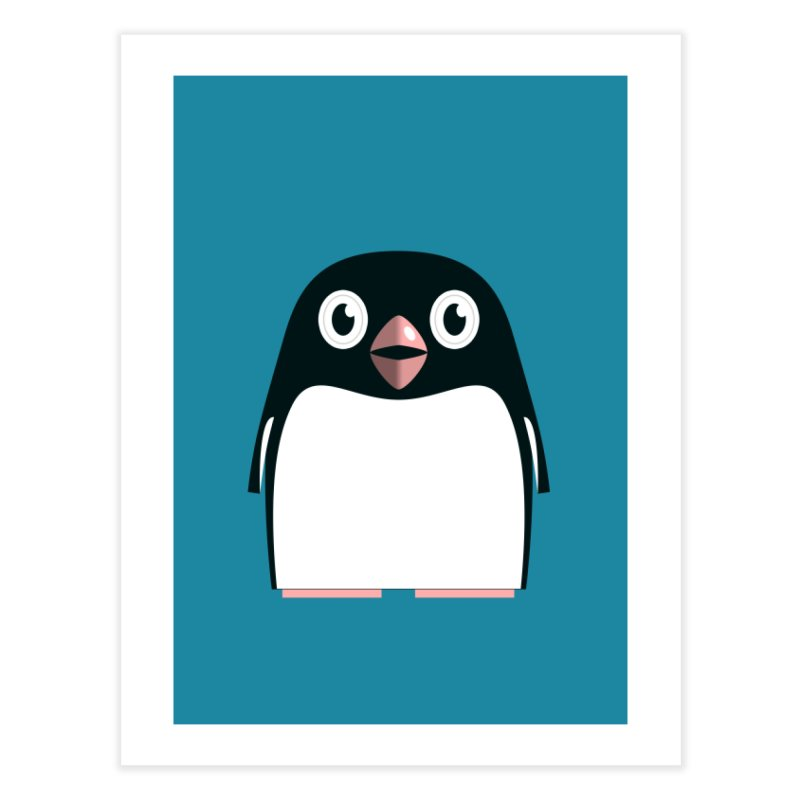Adélie penguin Home Fine Art Print by Pig's Ear Gear on Threadless