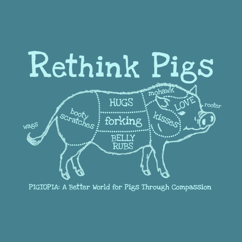 Rethink Pigs Men's T-Shirt by pigtopia's Artist Shop