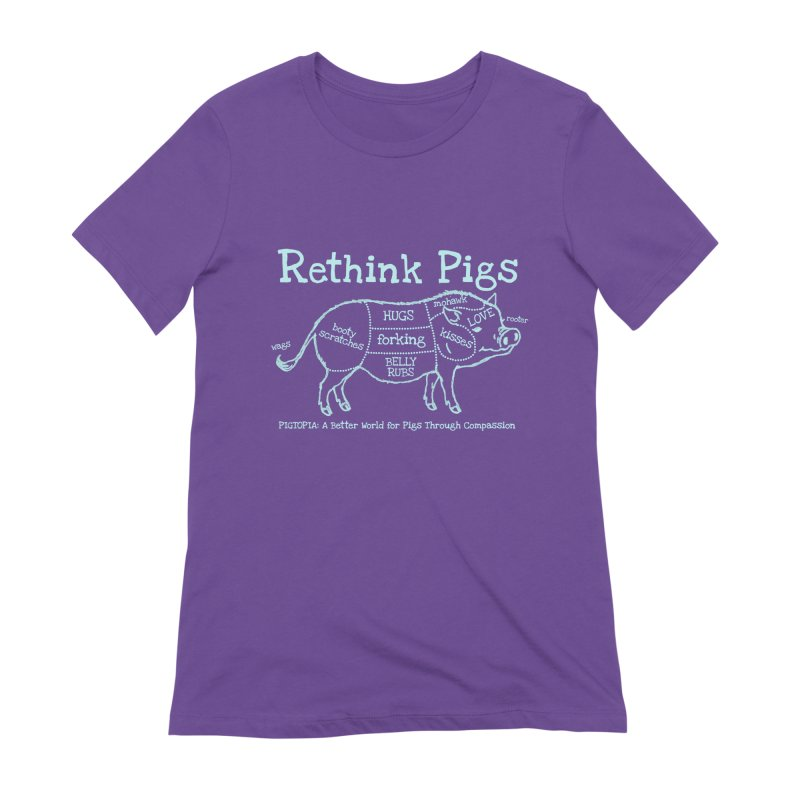 Rethink Pigs Women's Extra Soft T-Shirt by pigtopia's Artist Shop