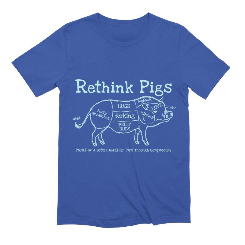 Rethink Pigs Men's Extra Soft T-Shirt by pigtopia's Artist Shop