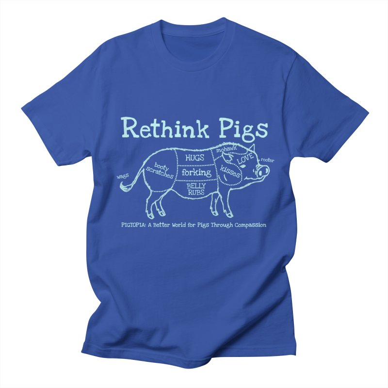 Rethink Pigs Men's Regular T-Shirt by pigtopia's Artist Shop