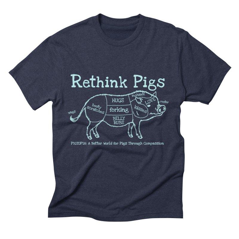 Rethink Pigs Men's Triblend T-Shirt by pigtopia's Artist Shop