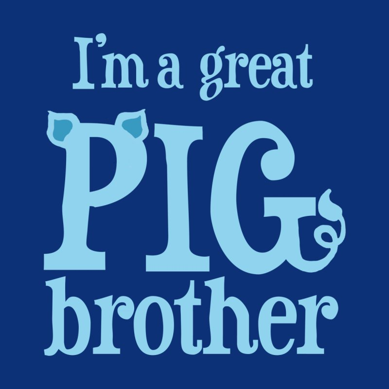 Pig Brother Kids T-Shirt by pigtopia's Artist Shop