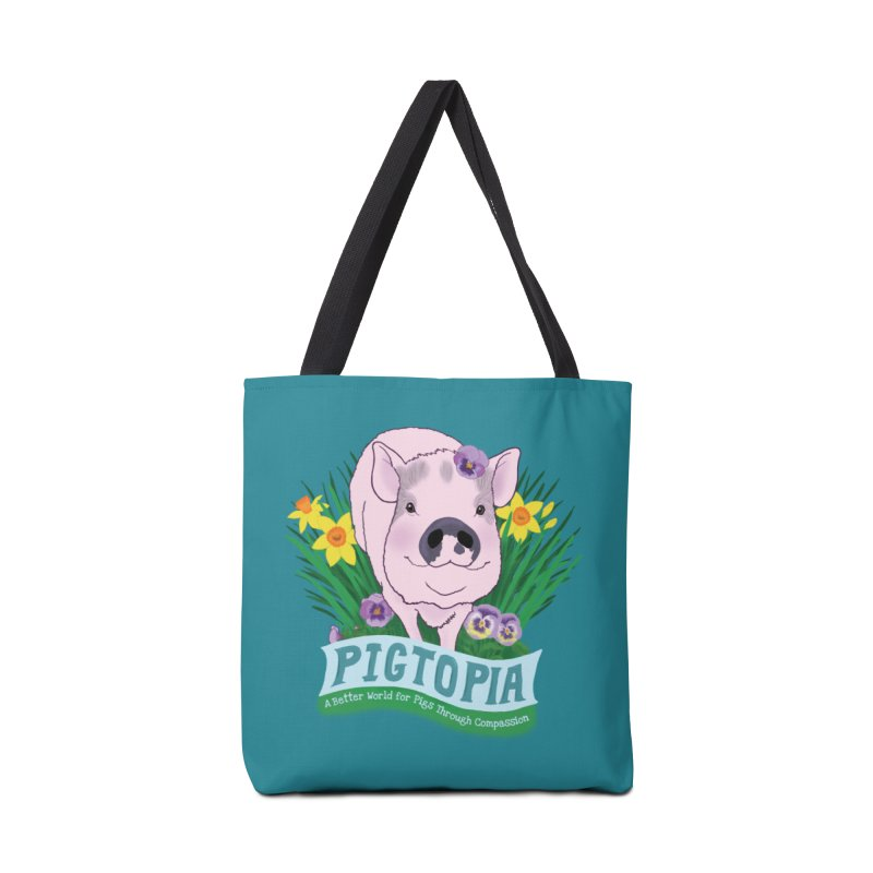 Pigtopia Official Logo Gear Accessories Tote Bag Bag by pigtopia's Artist Shop