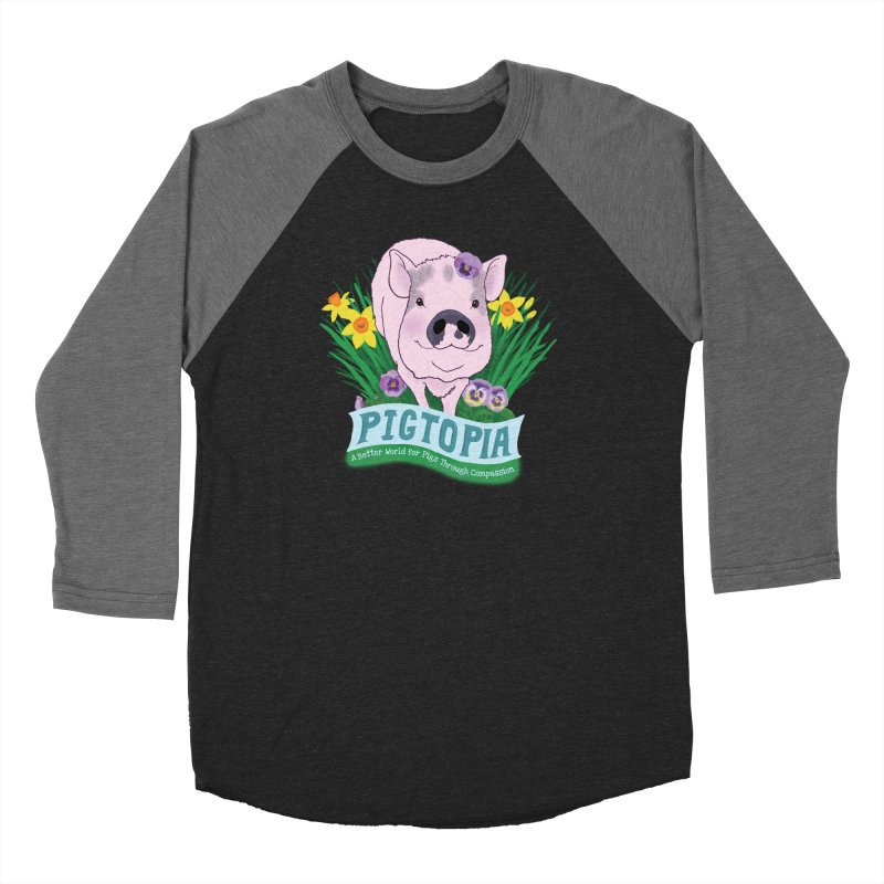 Pigtopia Official Logo Gear Women's Baseball Triblend Longsleeve T-Shirt by pigtopia's Artist Shop