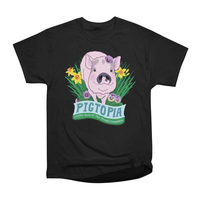Pigtopia Official Logo Gear Women's Heavyweight Unisex T-Shirt by pigtopia's Artist Shop