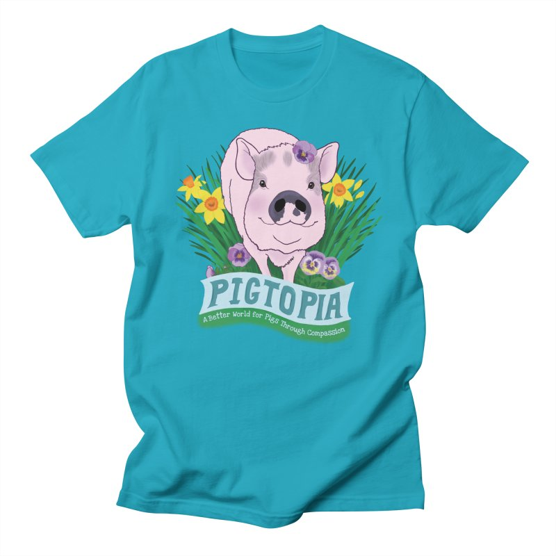 Pigtopia Official Logo Gear Men's Regular T-Shirt by pigtopia's Artist Shop