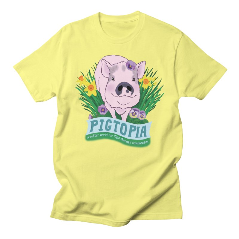 Pigtopia Official Logo Gear Women's Regular Unisex T-Shirt by pigtopia's Artist Shop