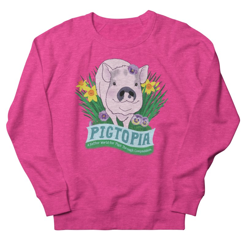 Pigtopia Official Logo Gear Women's French Terry Sweatshirt by pigtopia's Artist Shop