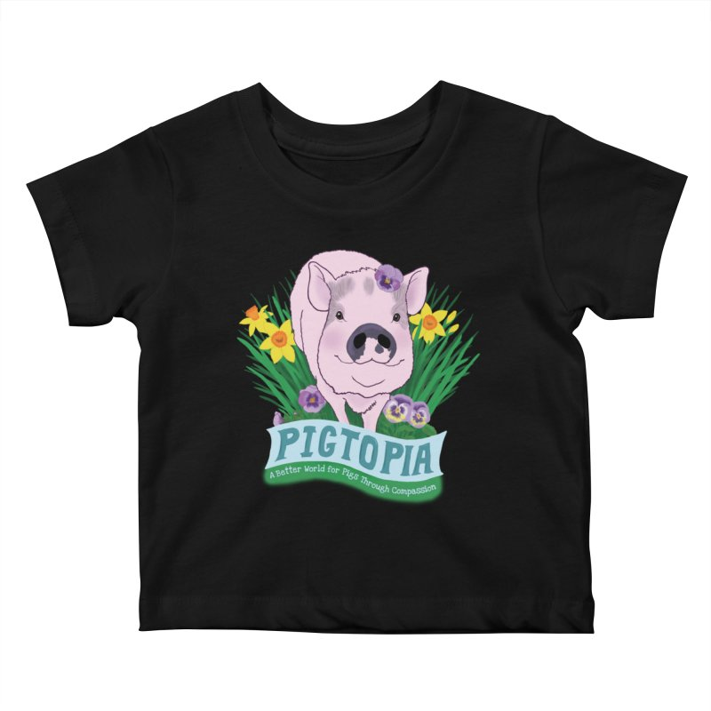 Pigtopia Official Logo Gear Kids Baby T-Shirt by pigtopia's Artist Shop