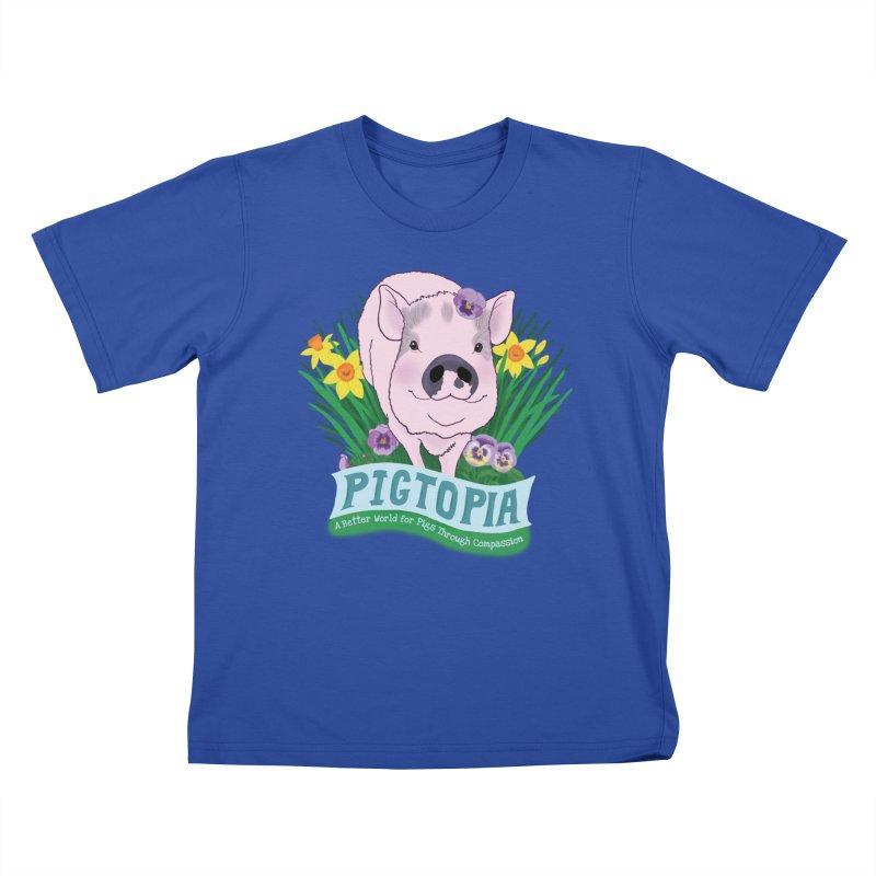 Pigtopia Official Logo Gear Kids T-Shirt by pigtopia's Artist Shop