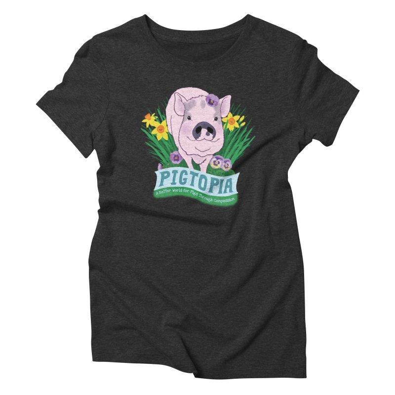 Pigtopia Official Logo Gear Women's Triblend T-Shirt by pigtopia's Artist Shop