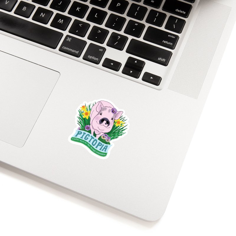Pigtopia Official Logo Gear Accessories Sticker by pigtopia's Artist Shop