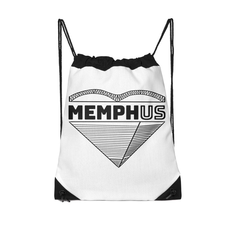 MemphUS Accessories Drawstring Bag Bag by pigtopia's Artist Shop