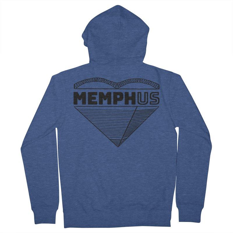 MemphUS Men's French Terry Zip-Up Hoody by pigtopia's Artist Shop