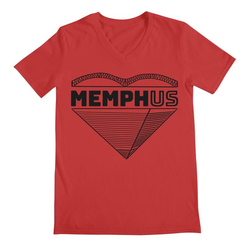 MemphUS Men's Regular V-Neck by pigtopia's Artist Shop