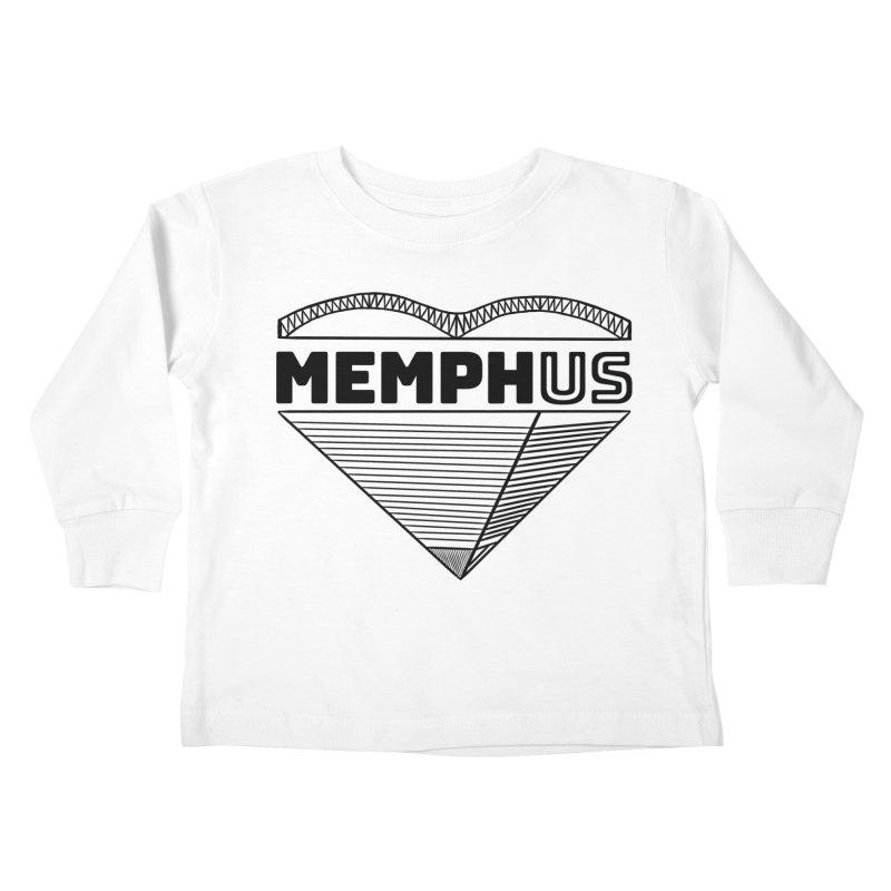 MemphUS Kids Toddler Longsleeve T-Shirt by pigtopia's Artist Shop